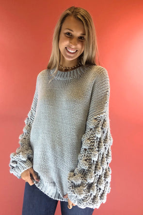 Weather the Storm Sweater - Grey