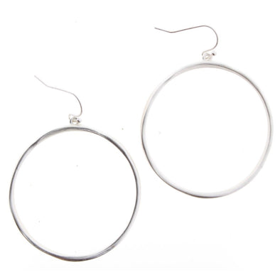 Luminous Earring Collection - Silver Circle