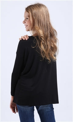 Tween Piko Top - Black