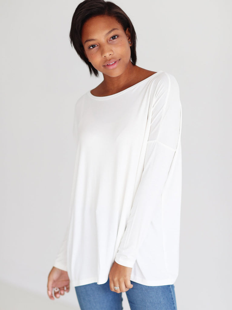 Close to Perfect Piko Top - Off White