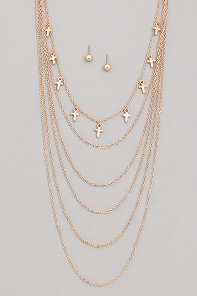 Stay By Me Layered Necklace - Gold