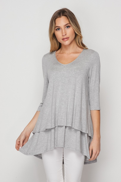 Far Away Layered Top - Plus Size