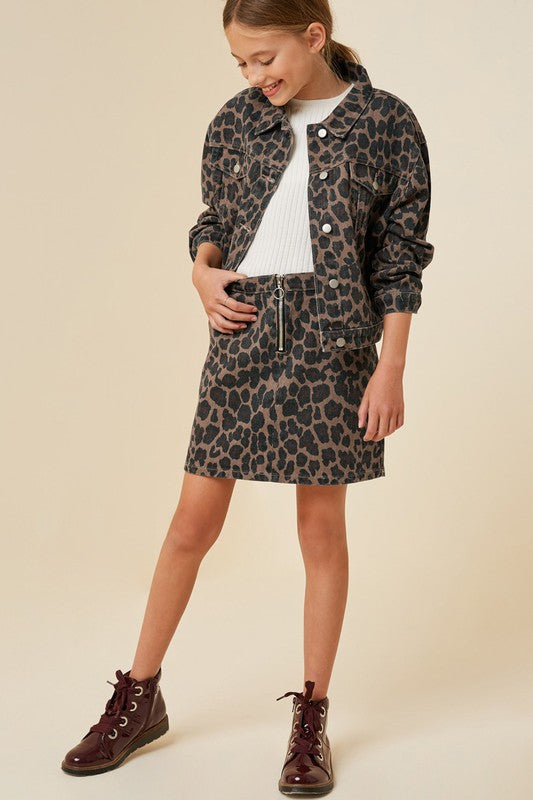 All the Time Leopard Skirt - Tween