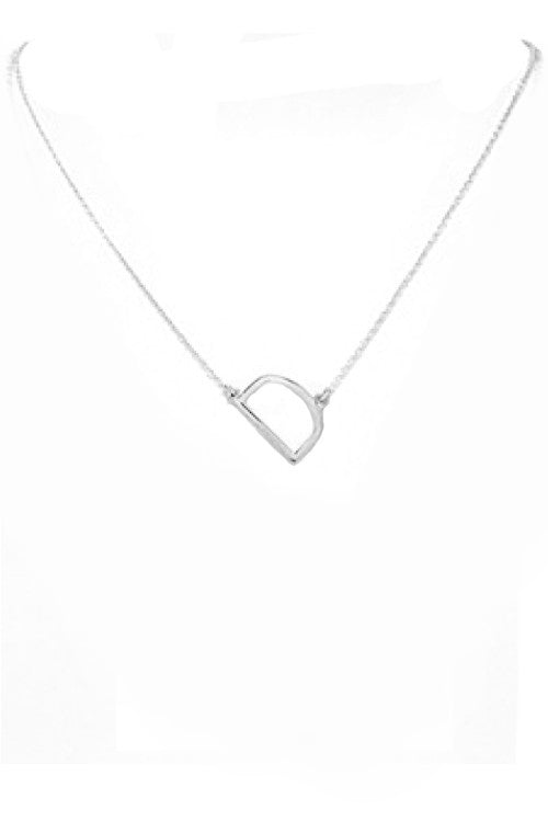 Small Silver Initial Necklace
