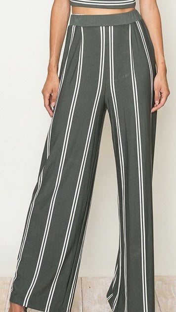 Block Me Wide Leg Pants