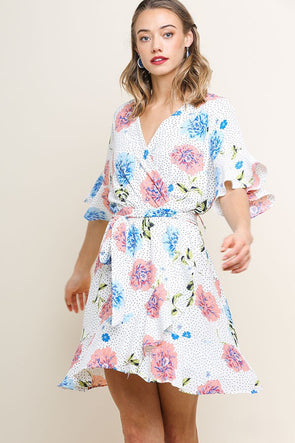 Catch Myself Floral Print Dress