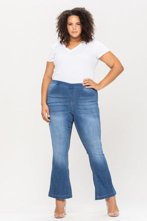 My Love Flare Jeans - Medium Wash/Plus