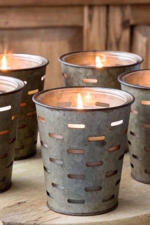 Olive Bucket Candle - Citrus Grove
