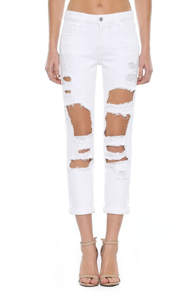 Blink of an Eye Destroyed White Jeans