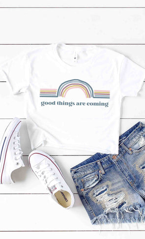 Good Things Are Coming Crop Tee