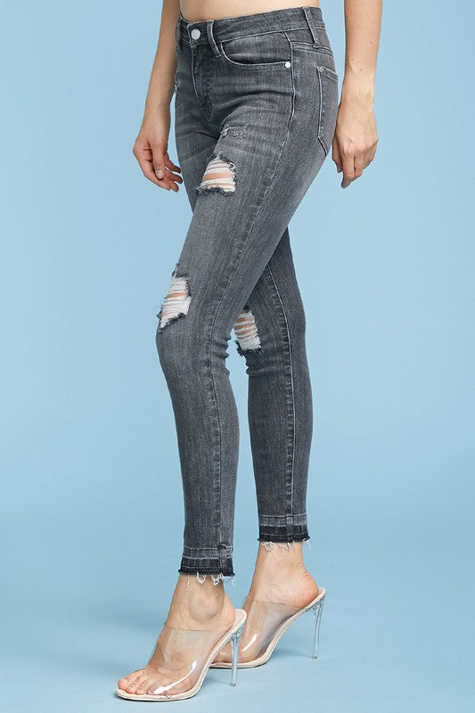 Down to Ride Skinny Jeans