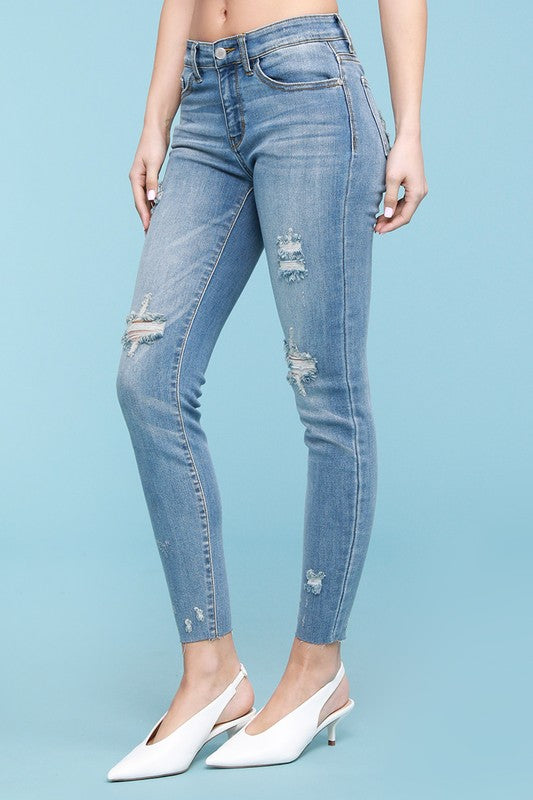 Stitched Up Skinny Jeans