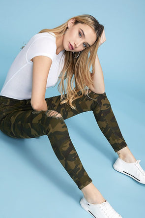 Hear Me Now Camo Skinny Jeans