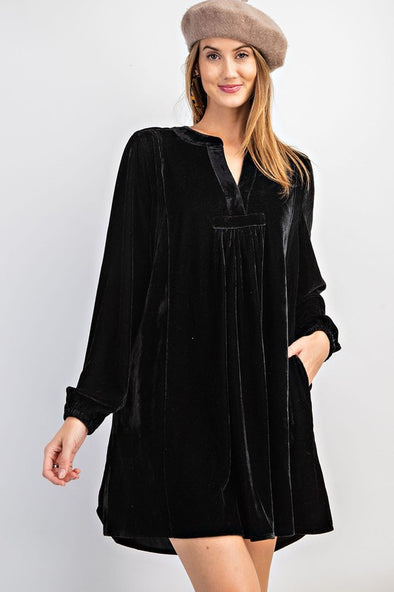 The Best Day Velvet Dress