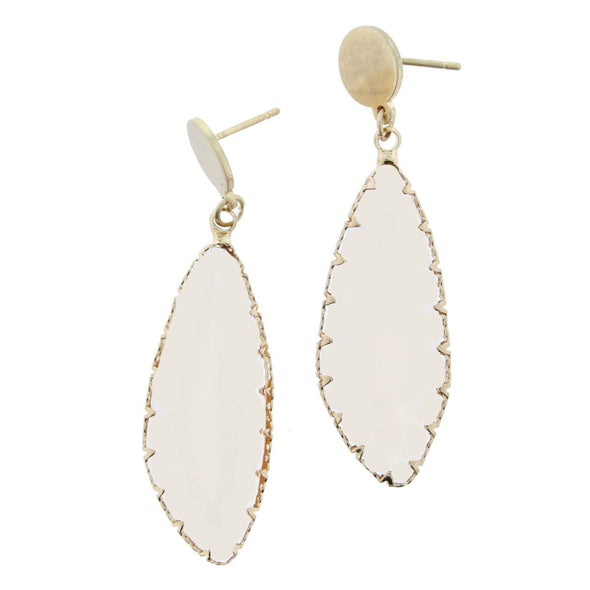 Luminous Earring Collection - Champagne Irregular Oval