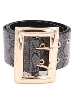 Not Square Snake Print Belt