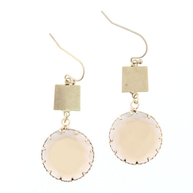 Luminous Earring Collection - Champagne Circle Crystal