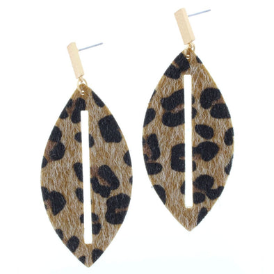 Remi Earring Collection - Teardrop Leopard