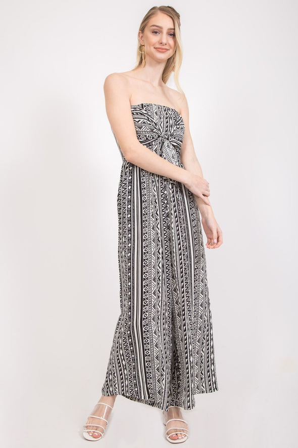Feel the Song Print Jumpsuit