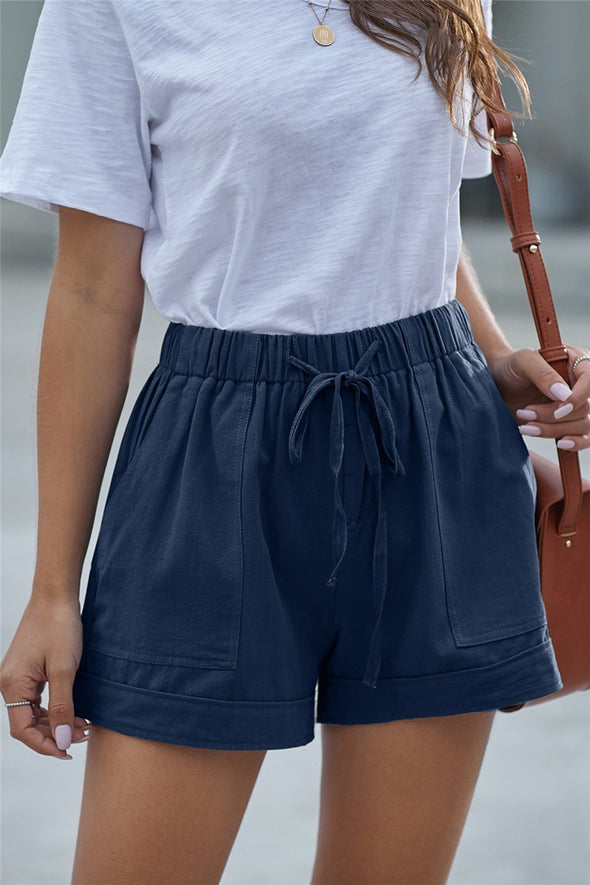 Live A Little Shorts - Dark Blue