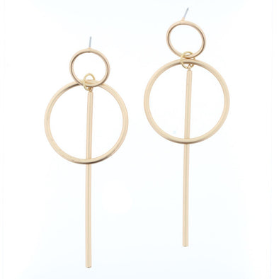 Luminous Earring Collection - Double Circle Drop