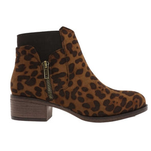 Linger Around Leopard Booties