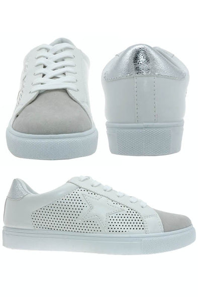 Star Days Tennis Shoes - Silver