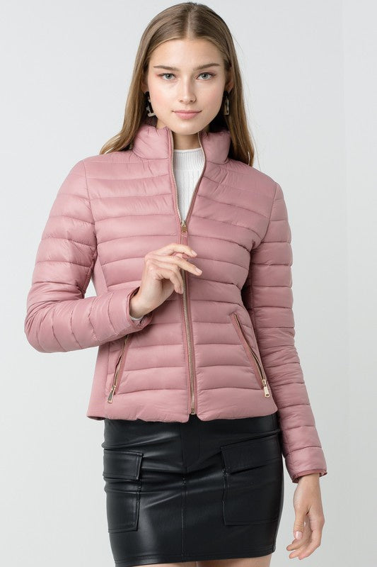 Warm Up Puffer Jacket - Mauve