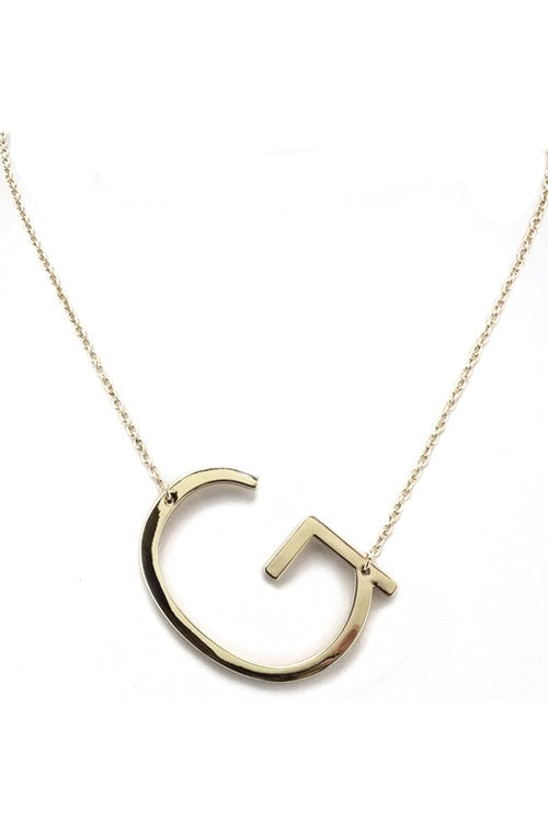 Large Gold Initial Necklace