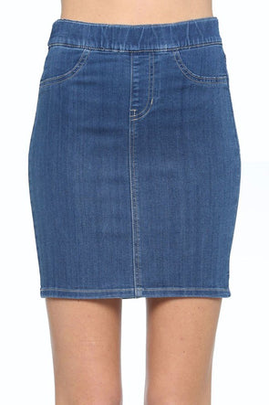 My Love Pull On Skirt - Medium Denim