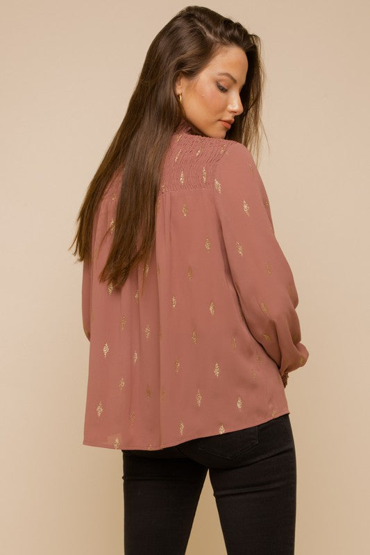 Shine at Night Top - Mauve