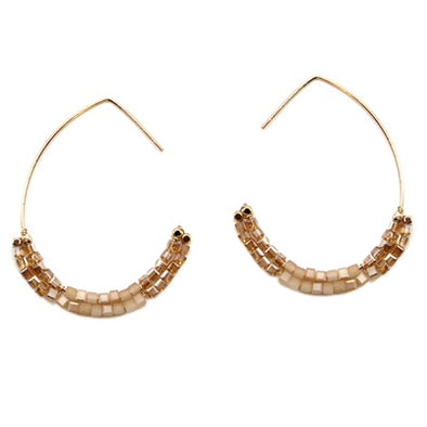 Topaz Crystal Hoop Earrings