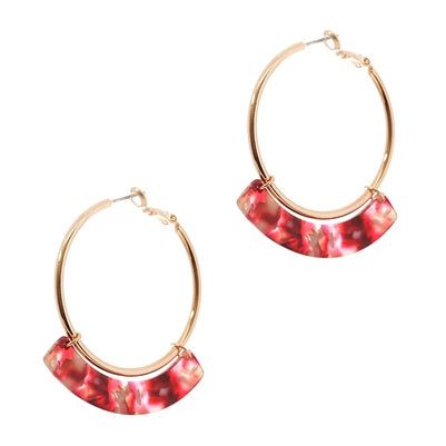 Come Around Acrylic Hoop Earring