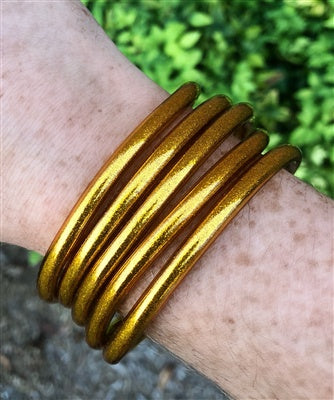 Bronze Gold Glitter Bangle Set