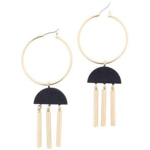 Remi Earring Collection - Semi Circle Tassel
