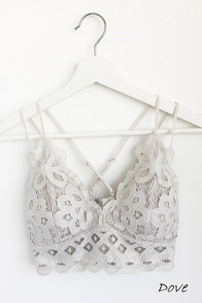 Luxe in Lace Bralette - Dove