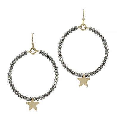 Fun Star Hoop Earring