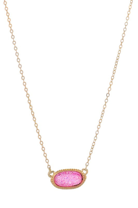 All the Time Druzy Necklace - Multiple Colors