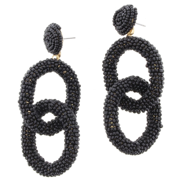 Remi Earring Collection - Black Seed Bead