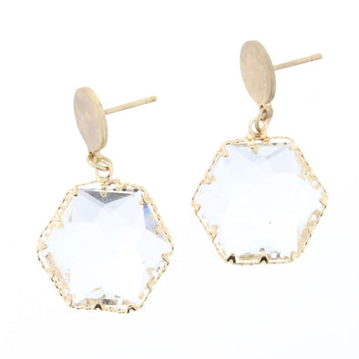 Luminous Earring Collection - Crystal Hexagon