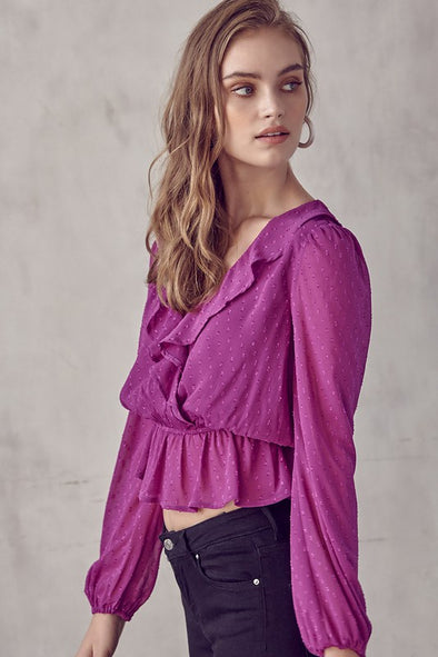 Before All Else Ruffle Top