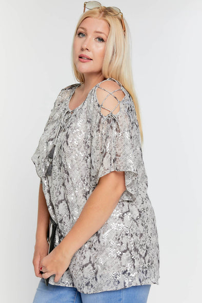 Wild Days Cold Shoulder Top - Plus Size