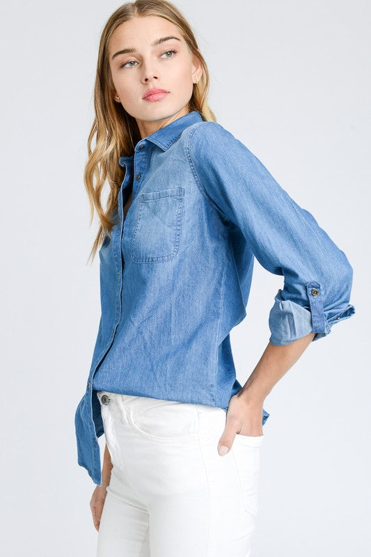 Pull It Together Denim Top