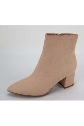 Give Me Three Steps Nude Booties
