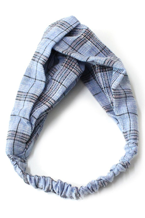 Plaid Knot Headband
