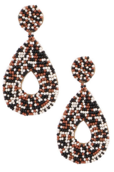 Started Here Seed Bead Earrings - Multiple Colors