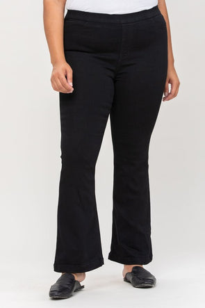 My Love Flare Jeans - Black Wash - Petite Length - Plus Size