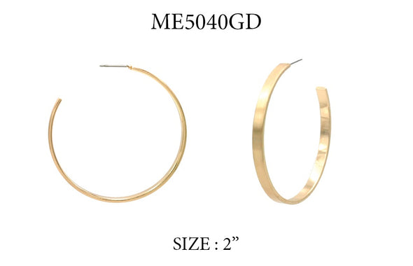 Simple Gold Hoop Earring