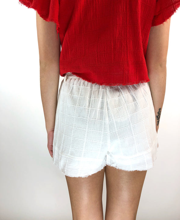 Out of My Mind Frayed Shorts