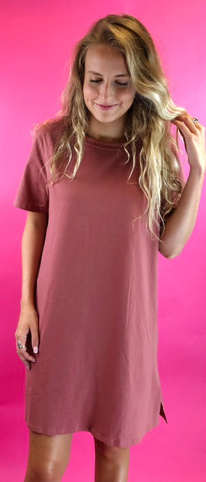 Not Changing Me T-Shirt Dress
